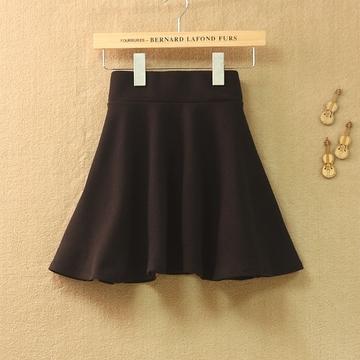 秋装新款韩版打底女半身裙包臀春秋裙子糖果色百褶短