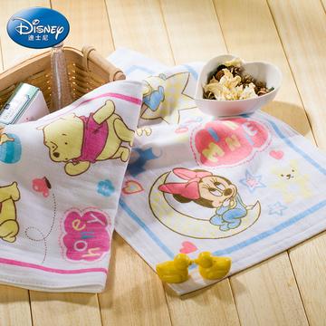 迪士尼毛巾纯棉无捻纱布宝宝儿童吸汗巾垫背正品热卖批发